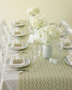 Elegant Wrapping Paper Table Runner