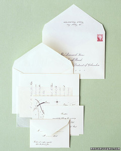 addressing and mailing invitations | martha stewart weddings, Wedding invitations