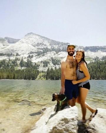 Couple stranded before wedding Instagram photo