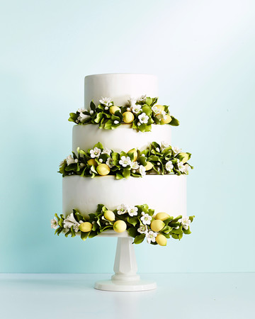 lemon blosson tiered cake