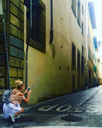 Anna Camp on Honeymoon in Italy
