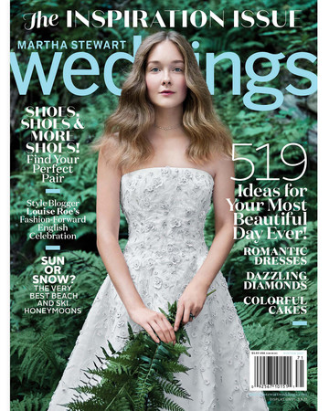 martha stewart weddings winter 2017 cover