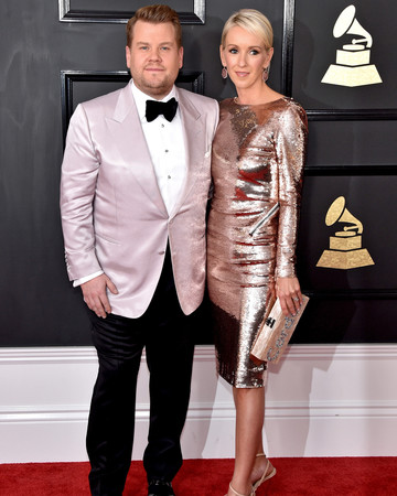 James Corden and Julia Carey at 2017 Grammy Awards