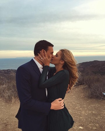 Ryan Lochte and Kayla Rae Reid Engagement Photo
