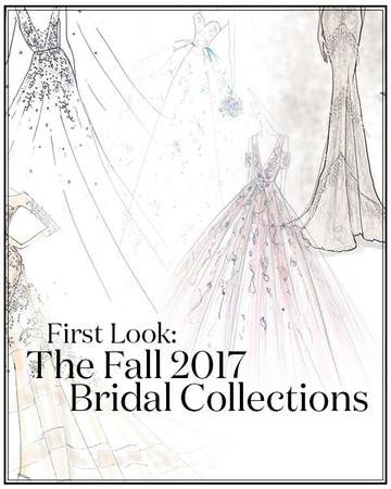 Fall 2017 Bridal Collection Designer Sketches
