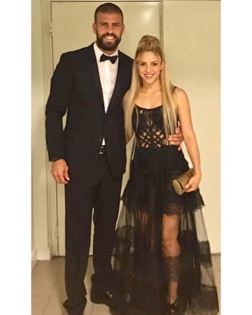Shakira and Gerard Pique at Lionel Messi's wedding