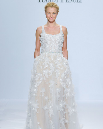 randy fenoli flower lace wedding dress spring 2018