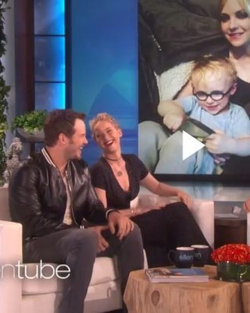 Chris Pratt and Jennifer Lawrence on Ellen