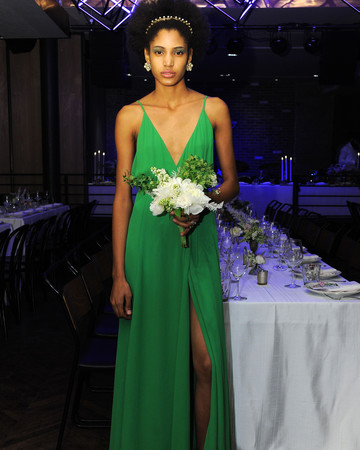green reformation spring 2018 wedding dress