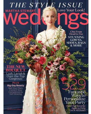 martha stewart weddings cover fall 2016
