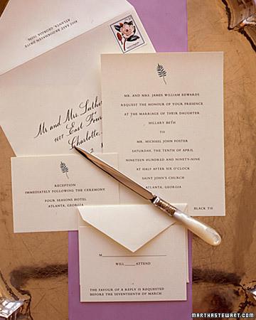 Invitation Wording Martha Stewart Weddings