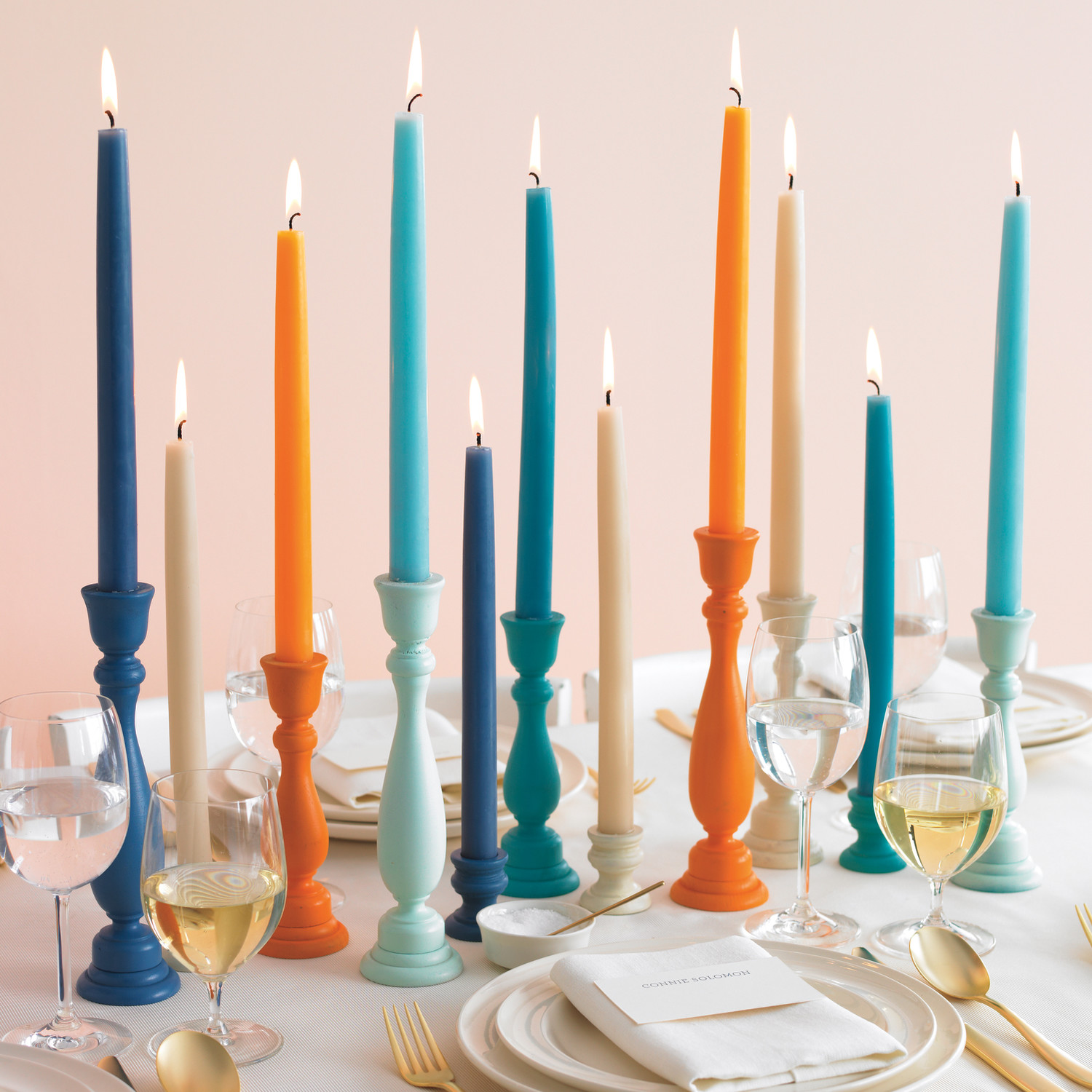 Colorful Candle Holders How To Martha Stewart Weddings