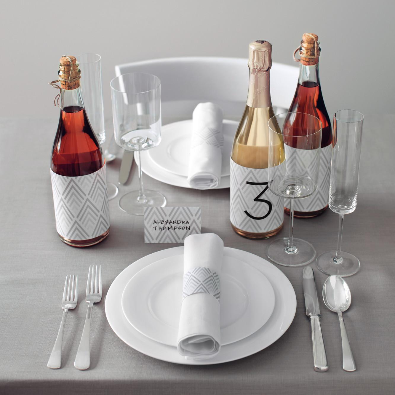 Wine Bottle Table Number Clip Art