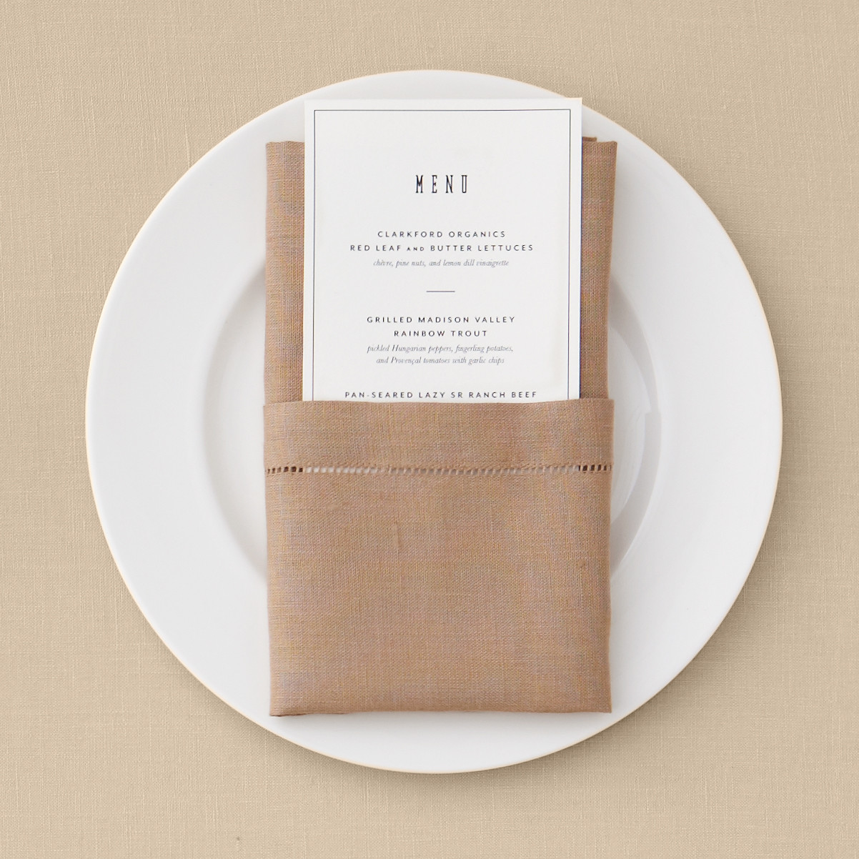 Pocket Napkin Fold Martha Stewart Weddings