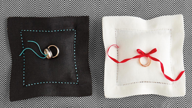ring bearer pillow ideas you can make on your own martha stewart weddings - Wedding Ring Pillow