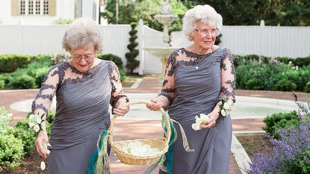 These Grandmas As Flower Girls Will Totally Melt Your