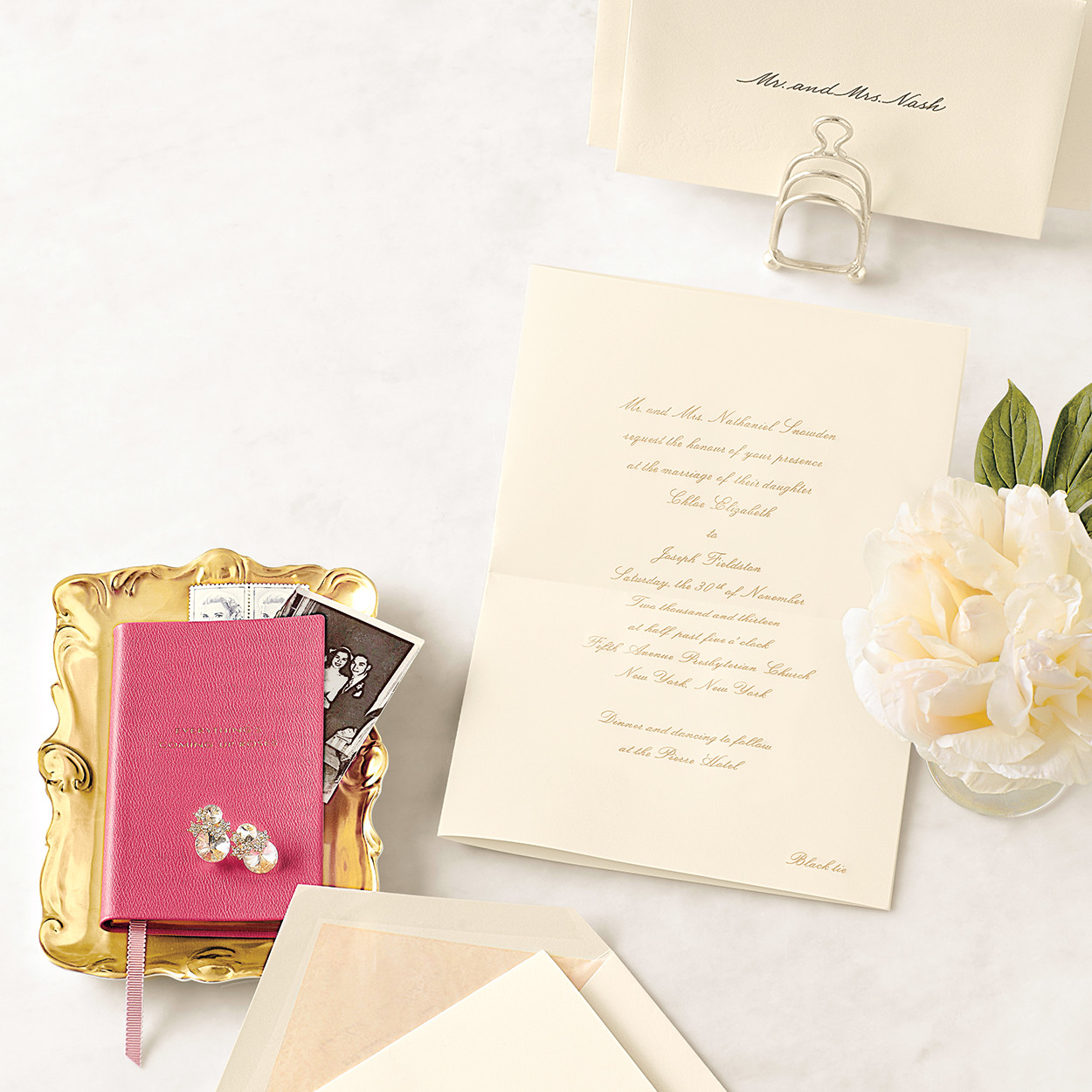 invitations from real weddings | martha stewart weddings, Wedding invitations