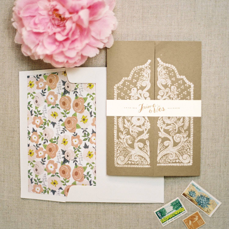 Floral Wedding Invitations gangcraftnet