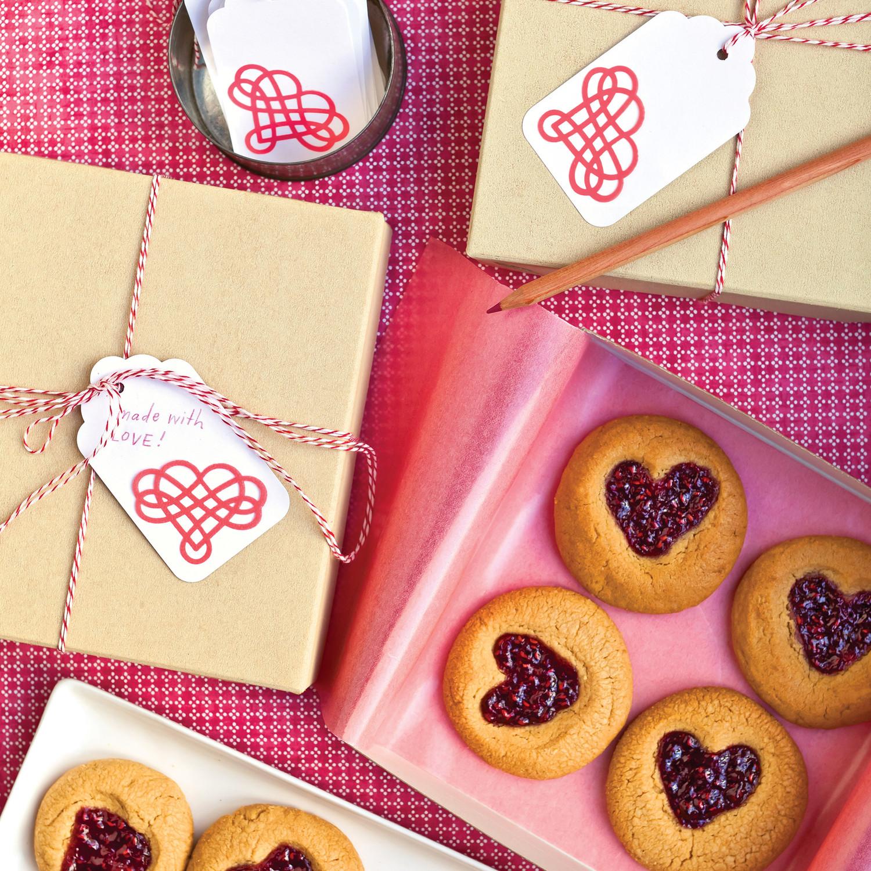 Wedding Cake Cookies Martha Stewart: Peanut-Butter-and-Jam Heart Cookies Recipe