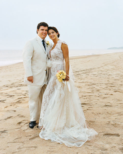 Couple S Wedding Ceremony And Reception Held At The Beach: A Formal Destination Wedding On The Beach In Mexico