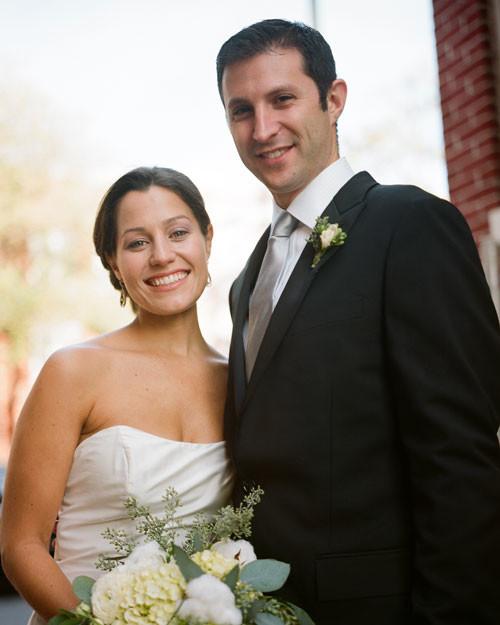 A Modern Slate-Gray-and-Orange Wedding In Washington, D.C