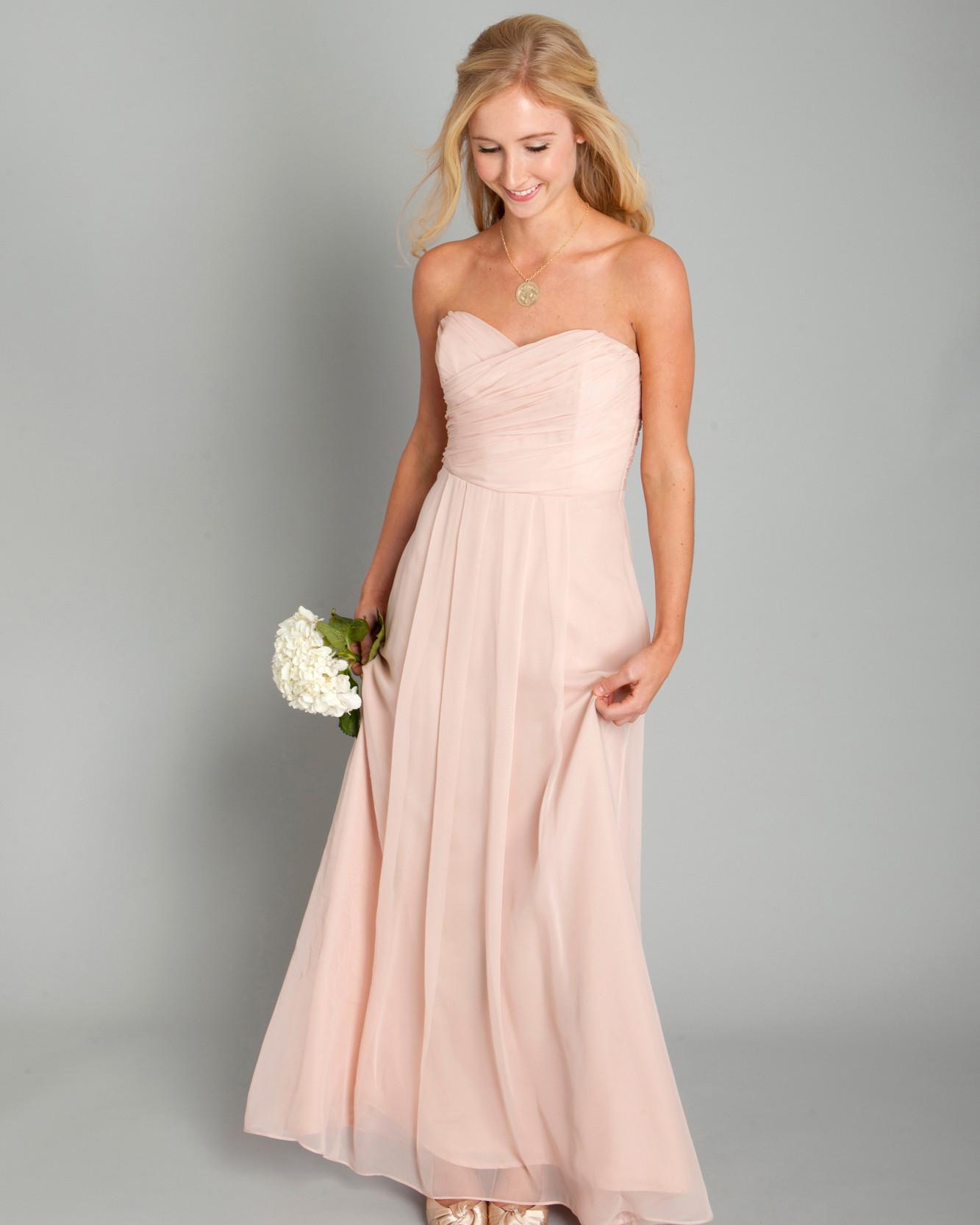 Powder Pink Wedding Dresses: Martha Stewart Weddings