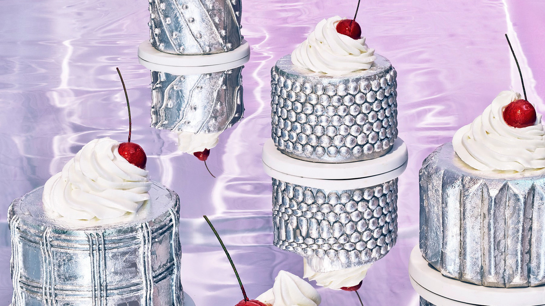 glass cake mercury glass