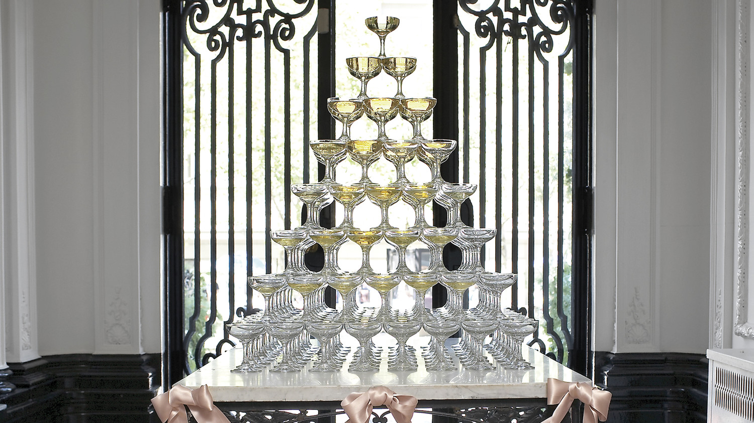 how to build a champagne tower martha stewart weddings centerpieces for wedding shower diy centerpieces for