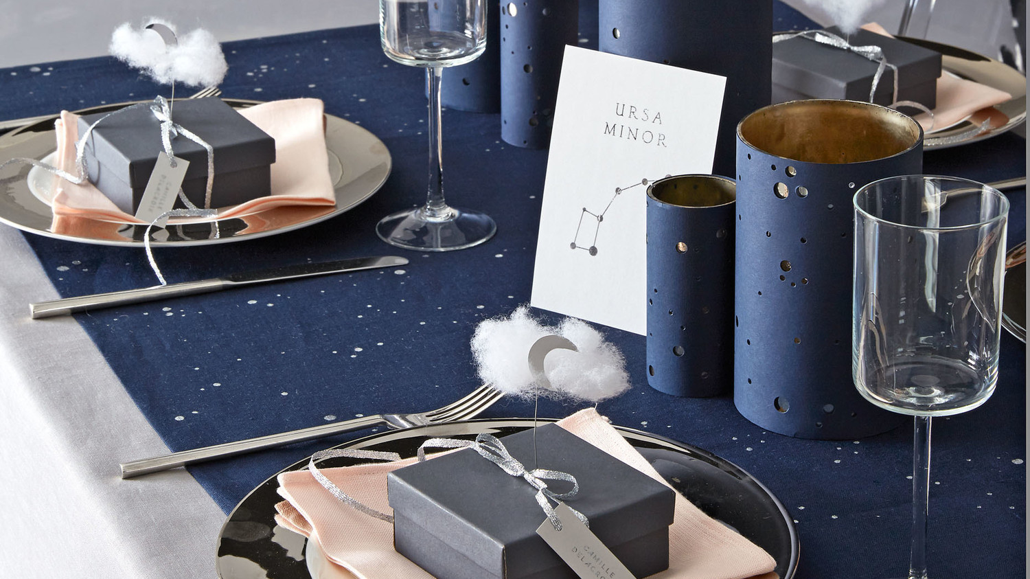 hybrid celestial table setting