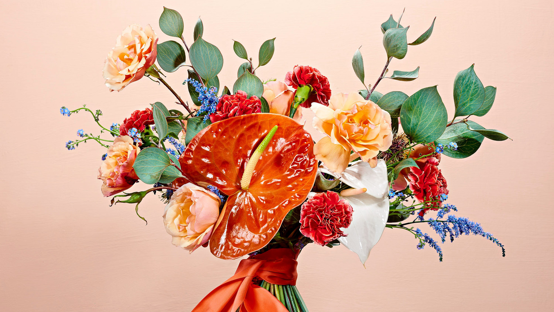 tropical punch floral arrangement