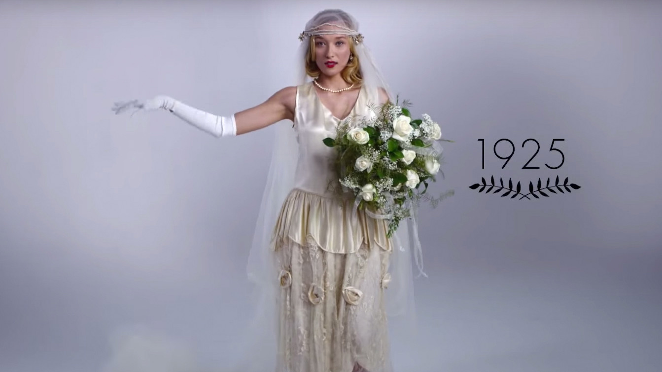 WATCH: 100 Years of Wedding Dresses in Just 3 Minutes ...