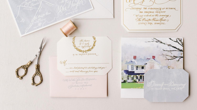 Martha Stewart Wedding Invitation: The Freshest Spring Wedding Invitations