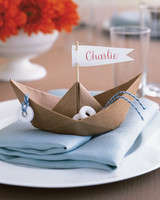 Paper-Boat Place Cards