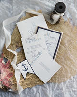 anchor motif wedding invitation