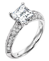 Diana Classic Princess-Cut Engagement Ring