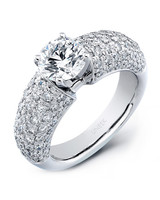 Uneek Jewelers White Gold Engagement Ring