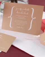 kraft wedding invitation