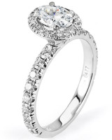Michael M. White Gold Engagement Ring