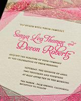 glam wedding invitation
