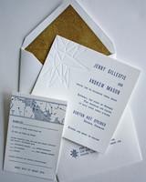 celestial wedding invitation