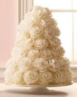 White Sugar Petal Wedding Cake