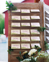 Outdoor Escort Card Displays