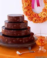 Chocolate Kumquat Wedding Cake