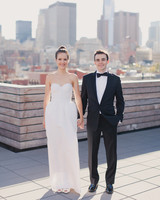 A Modern Gold-and-Fuchsia Restaurant Wedding in New York City