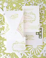 lime green wedding invitation