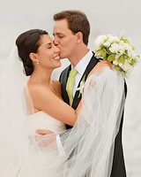 A Traditional Green-and-White Wedding in Missouri