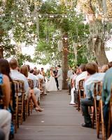 daytime wedding string lights