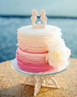 seahorse wedding cake