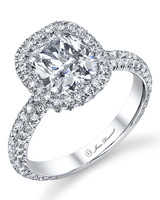 Cushion-Cut Round Engagement Ring from Jean Dousset