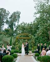 Mossy Succulent Wedding Arbor
